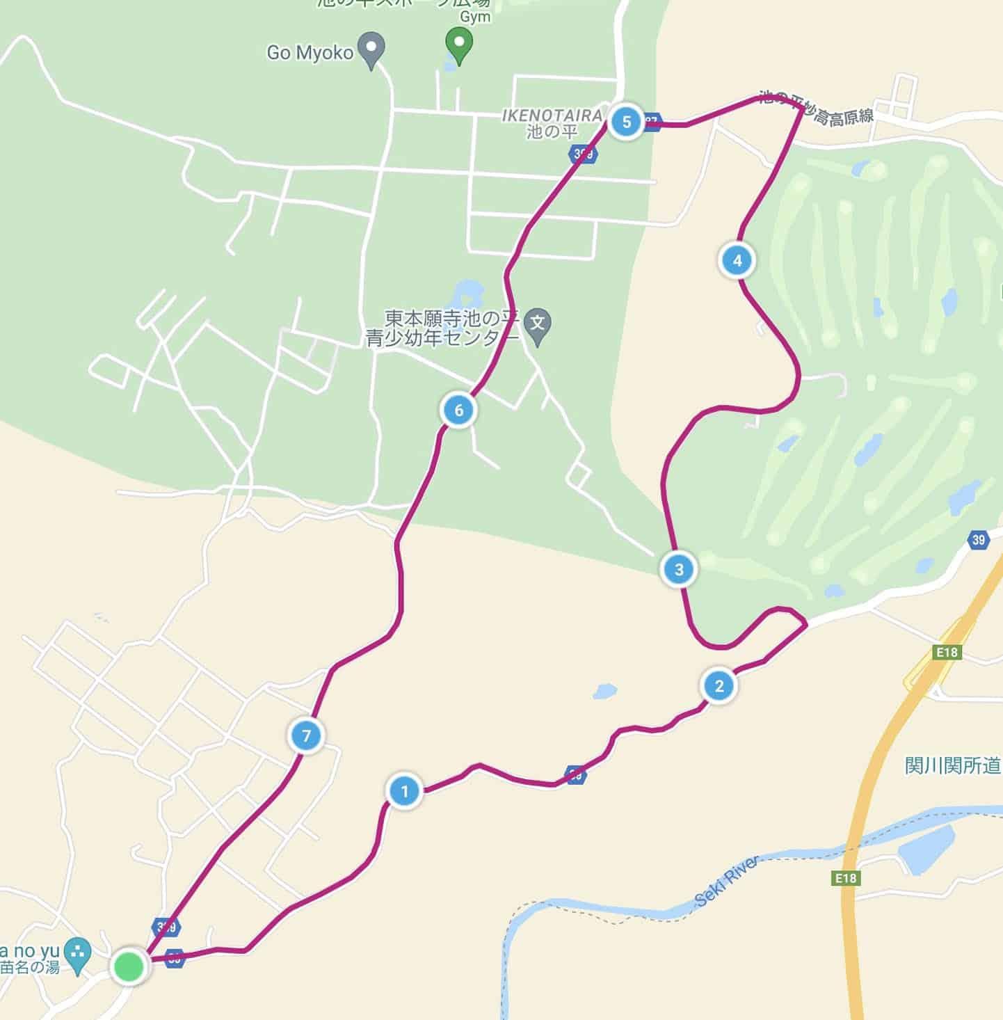 高原コースマップ